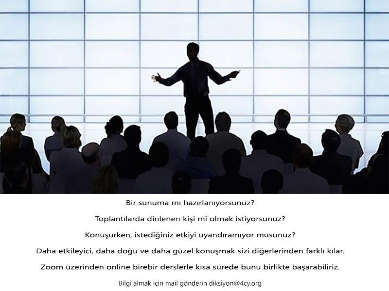 Online diksiyon eğitimi dersi